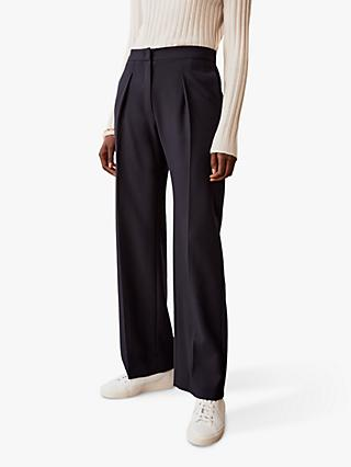Jigsaw Helena Tailored Trousers, Navy