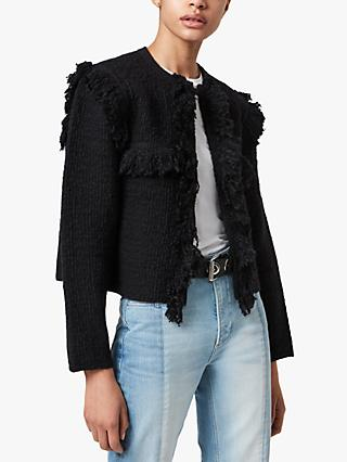 AllSaints Ashley Tassel Jacket, Black