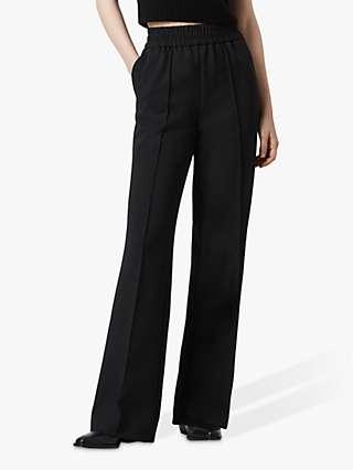 AllSaints Millie Wide Leg Trousers, Black