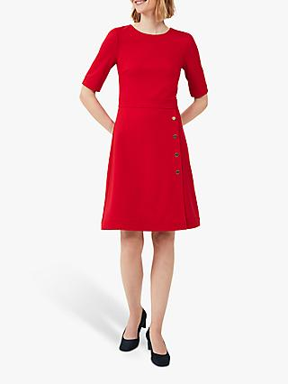 Hobbs Petite Anela Dress, Flag Red