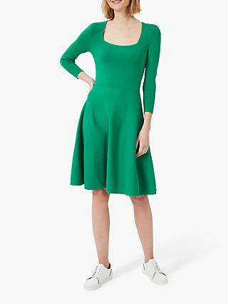 Hobbs Petite Cassie Knit Dress, Apple Green