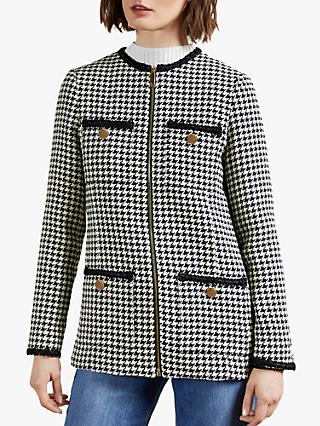 Ted Baker Moniik Houndstooth Jacket, Navy/Multi