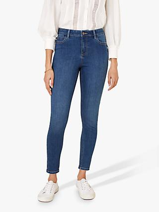 Monsoon Iris Regular Length Skinny Jeans, Denim Blue