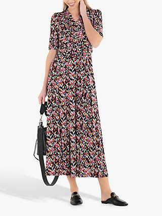 Jolie Moi Amaka Wrap Print Midi Dress, Multi
