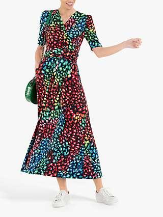 Jolie Moi Denise Maxi Dress, Navy/Multi
