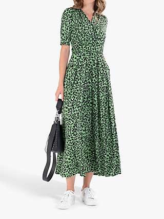 Jolie Moi Denise Maxi Dress, Green Animal/Multi