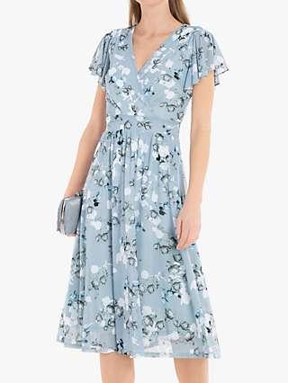 Jolie Moi Chailee Midi Dress, Blue Floral