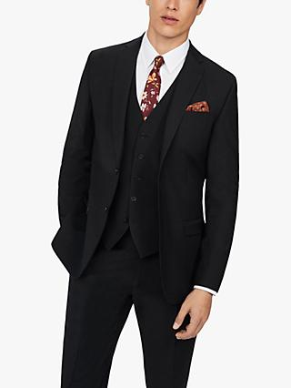 Ted Baker Panama Wool Blend Suit Jacket, Black