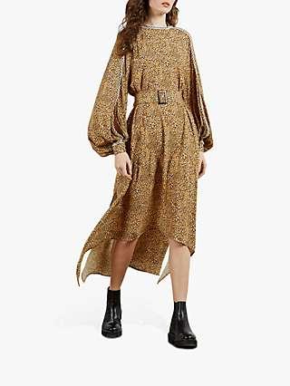 Ted Baker Rewbie Printed Midi Dress, Yellow