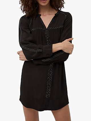 French Connection Ising Drape Dress, Black