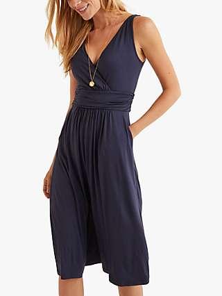 Boden Effie Jersey Wrap Dress, Navy