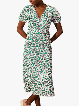 Boden Tessa Midi Dress, Ivory Orchard/Multi