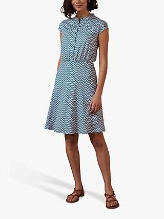 Boden Easy Geometric Print Shirt Dress
