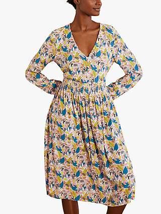 Boden Susannah Midi Dress, Milkshake Tree Toucan