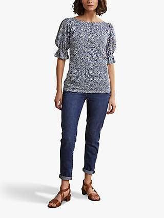 Boden Georgia Floral Spotty Top