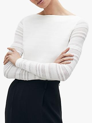 The Fold Chatillon Knit Top, Ivory