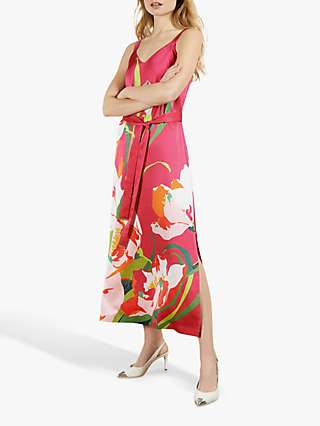 Ted Baker Meaa Floral Midi Dress, Pink