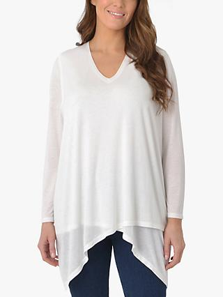 Live Unlimited Curve Asymmetric Hem Long Sleeve Top