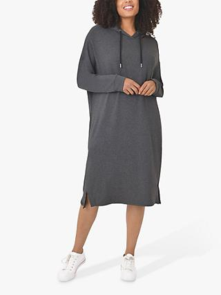 Live Unlimited Hoodie Dress, Dark Grey