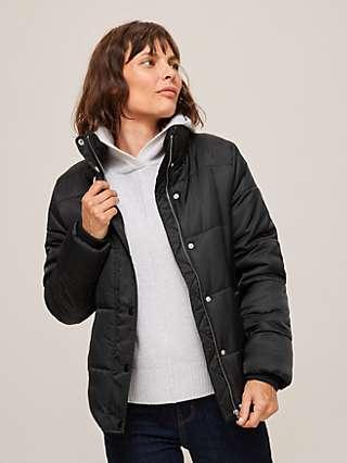 John Lewis & Partners Funnel Neck Short Puffer Jacket