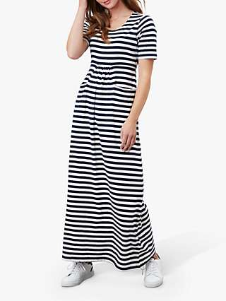 Joules Trudy Striped Maxi Dress, Navy/Cream