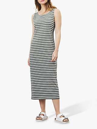 Joules Riva Striped Midi Sleeveless Jersey Dress