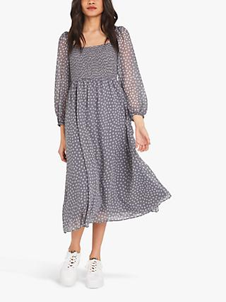 Finery Melanie Spot Print Dress, Grey