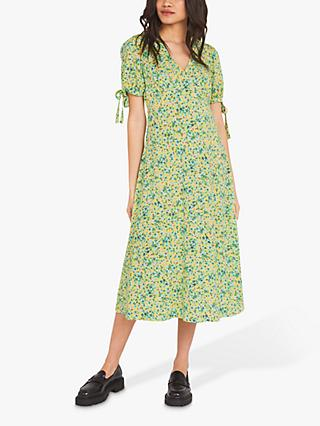 Finery Claire Sweet Pea Ditsy Print Dress, Green