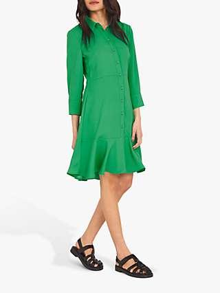 Finery Paloma Shirt Dress, Emerald