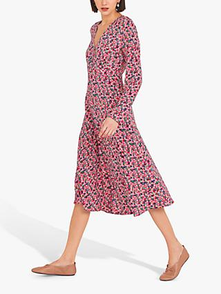 Finery Lilly Floral Print Tea Dress, Multi/Ditsy