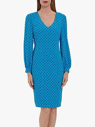 Gina Bacconi Daniella Spot Print Shift Dress