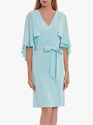 Gina Bacconi Chestina Moss Crepe Dress