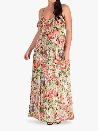 Chesca Floral Chiffon Maxi Dress, Multi