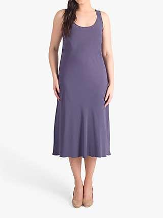 Chesca Satin Back Crepe Shift Dress, Hyacinth