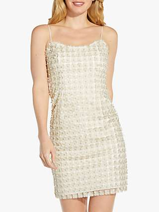 Adrianna Papell Pearl Mini Dress, Ivory