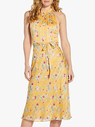 Adrianna Papell Floral Chiffon Dress, Yellow Multi