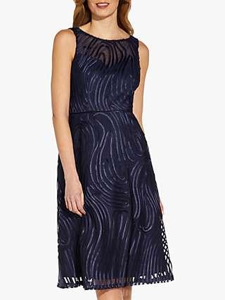 Adrianna Papell Ribbon Cocktail Dress, Midnight