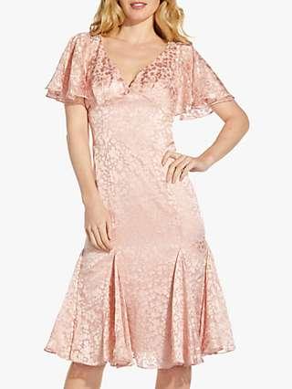 Adrianna Papell Satin Burnout Dress, Blush