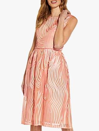 Adrianna Papell Ribbon Cocktail Dress, Blush
