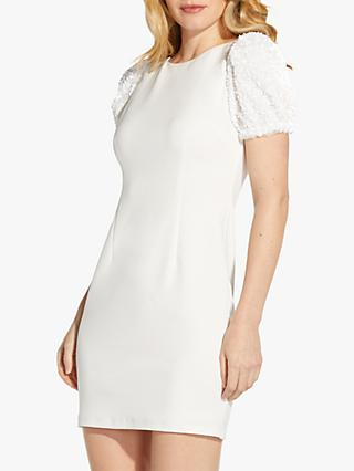 Adrianna Papell Embellished Mini Dress, Ivory