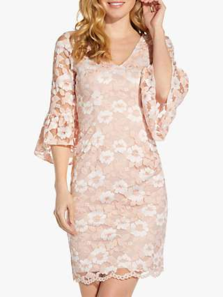 Adrianna Papell Belle Floral Sheath Dress, Ivory/Pink