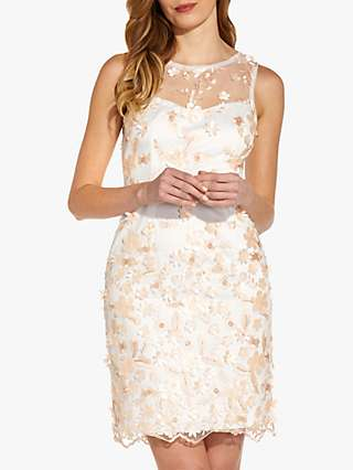 Adrianna Papell Floral Embroidered Mini Dress