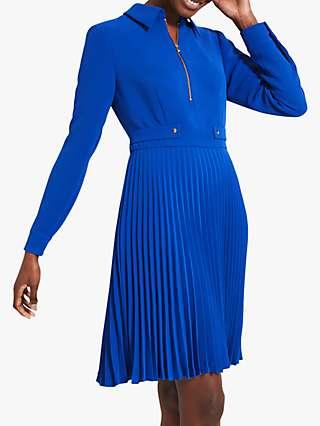 Damsel in a Dress Jola Pleat Knee Length Dress, Cobalt