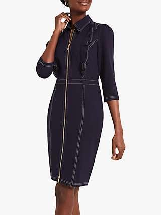 Damsel in a Dress Galina Ponte Knee Length Dress, Navy