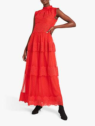 Damsel in a Dress Darcie Embroidered Maxi Dress, Red