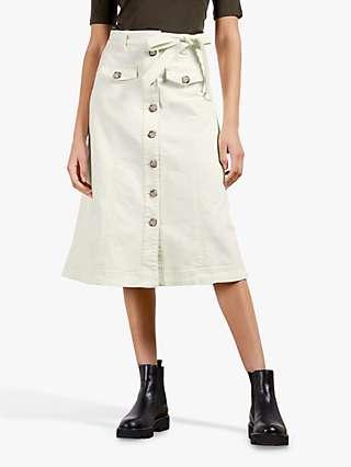 Ted Baker Xandra A-Line Skirt, Cream
