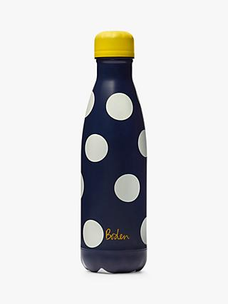 Boden Spot Print Drinks Bottle, 500ml, Navy/Multi