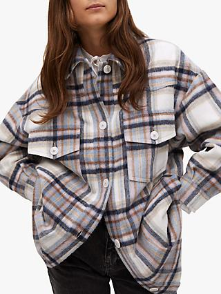 Mango Oversized Check Jacket, Multi