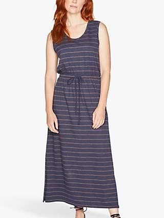 Thought Cecilia Tie Waist Maxi Dress, Navy