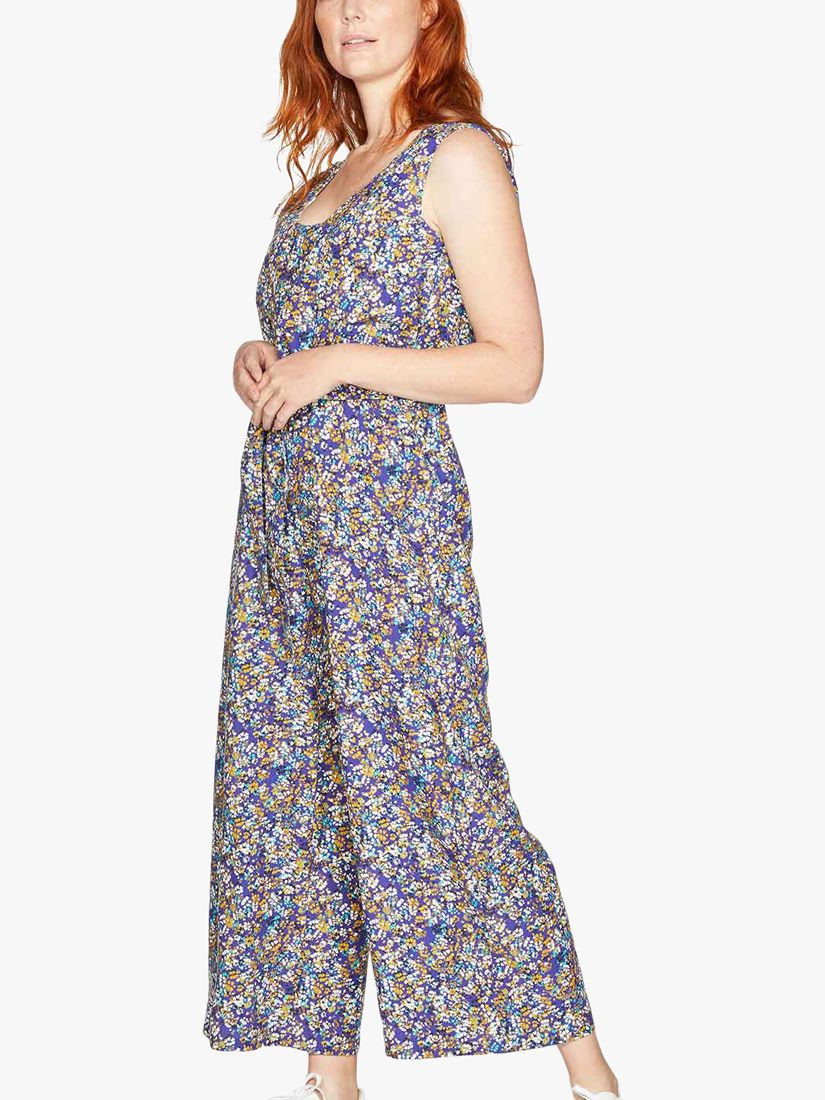 Thought Elsie Floral Jumpsuit, Azure Blue